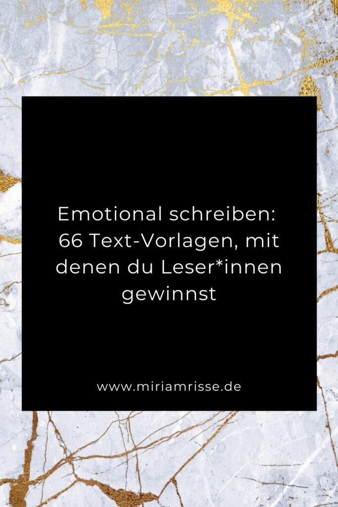Sinnbild für emotional schreiben