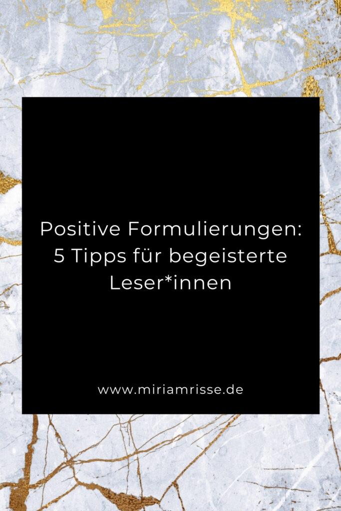 Sinnbild für positive Formulierungen