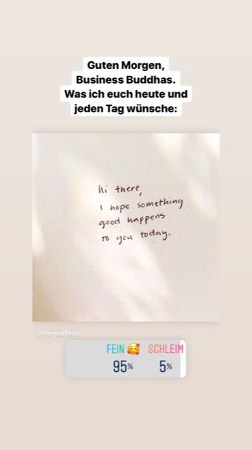 Beispiel für Instagram Story Ideen