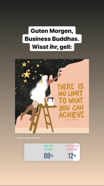 Beispiel für Instagram Storys Ideen